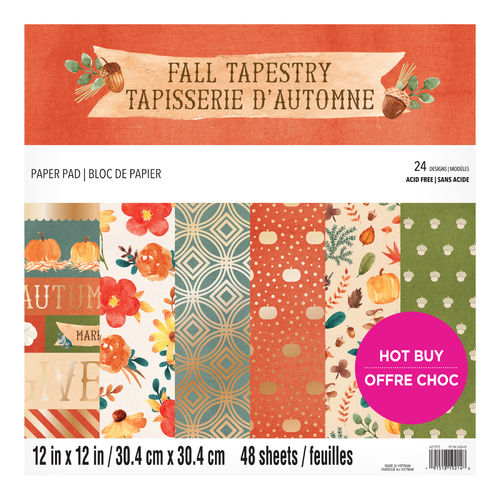 "12x12 Craft Smith Paper Kit ""Fall Tapestry"""